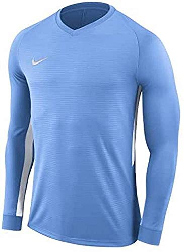 Nike Dry Tiempo Premier Football T-Shirt A Manica Lunga, Uomo, Black/Black/White/(White), L