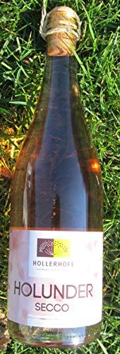 Holunder Secco rose. Erleben Sie die besondere Verbindung von edlem rose Wein, perliger Kohlensäure und fruchtigen Holunderblüten.