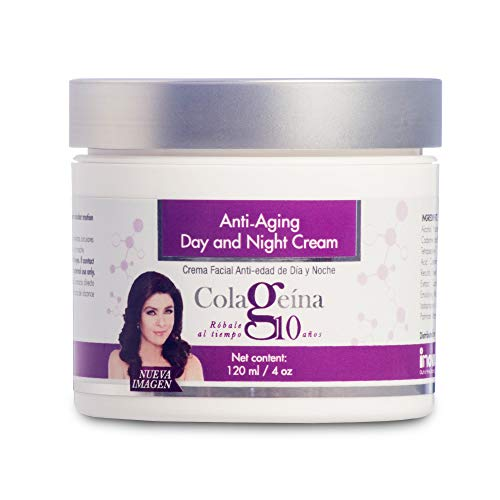 Colageina 10 Anti-Aging Day and Night Cream, 4 oz (120 ml) - Skin Care Treatment for a Younger Look. Rejuvenate Your Skin and Say Goodbye to the Appearance of Fine Lines and Wrinkles.