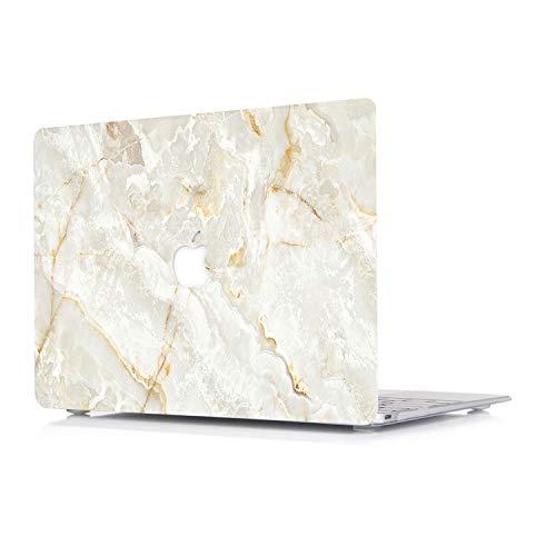 L2W Nuevo Funda MacBook Air 13 Pulgadas versión 2018 Modelo: A1932 con Touch Bar y ID - Mate Suave Tacto plástico Duro Caso Cubierta de la cáscara Protectora, patrón de mármol de Jade