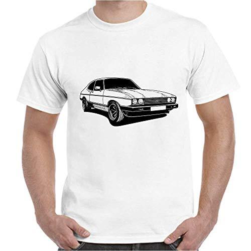Capri Herren T-Shirt Automotiv (Weiss, M)