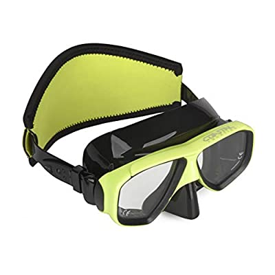 Coastal Aquatics Adult Snorkel Mask - Diving Mask - Scuba Mask - Anti-Fog Lens - Tempered Glass - Neoprene Strap Cover