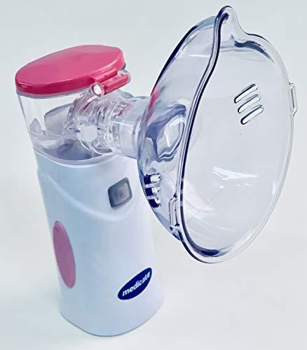 Inalador Rede Vibratória Mesh Colors Rosa - Md4400 Rs, Medicate, Rosa