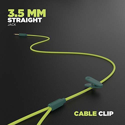 boAt Bassheads 242 in Ear Wired Earphones with Mic(Neon Green)
