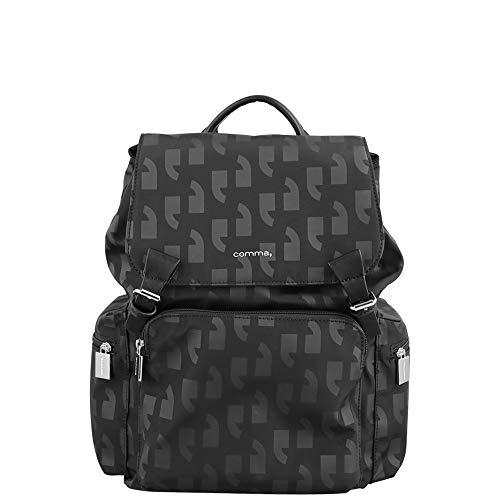 comma Damen Any Time Backpack Mvf Rucksackhandtasche Schwarz (Black)