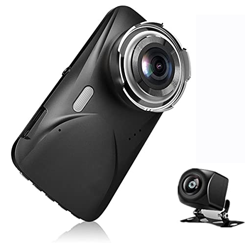 Braceletlxy Cámara DULAS DULAS DE DULAS DE 2K, cámara Frontal y Trasera para automóviles 170 ° Grabadora de conducción de 4 Pulgadas para Sony Sensor Sensor Sensor Visión Nocturna