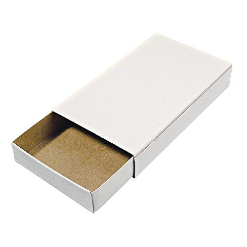 Rayher Hobby 8147000 Streichholzschachteln, groß, blanko, leer, weiß, 12 Pappschachteln zum Basteln und Dekorieren, Größe 11 x 6,5 x 2 cm