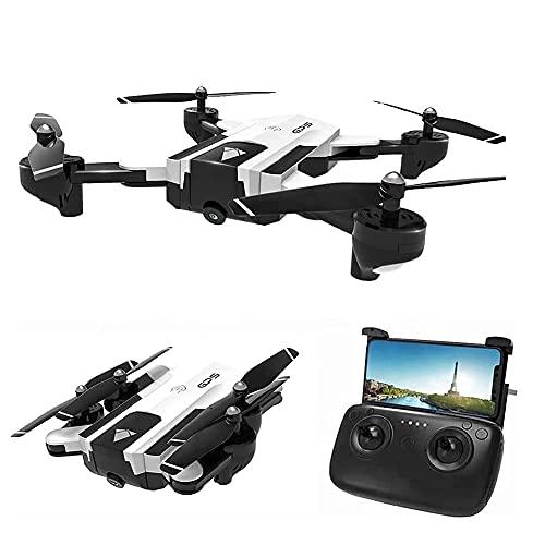 Drone con telecamera Drone Posizionamento del flusso ottico Quadricottero RC con telecamera HD 1080P, Modalità senza testa di mantenimento dell'altitudine, Droni FPV pieghevoli Wifi Live Video 3D Flip
