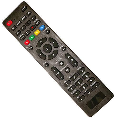 Mando a Distancia Universal de TV para LG Panasonic Samsung Hitachi Sony Vizio Smart TV HAIER Toshiba Philips TCL Hisense con 3D Netflix Botones APPS