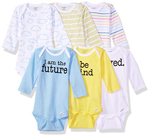 Onesies Brand baby boys 6-pack Long Sleeve Bodysuits and Toddler T Shirt Set, Clouds, 6-9 Months US