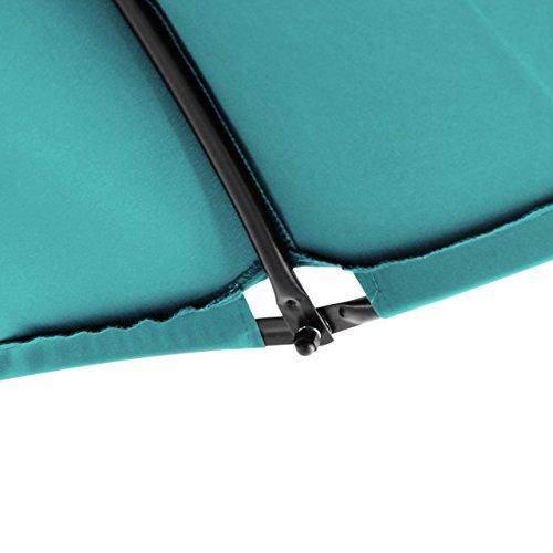 Nexos ZGC34353 Luxus Schwebeliege Blau Schwingliege Relaxliege Hängeliege Sonnenliege Hängeschaukel Inklusive Sonnenschirm, türkis - 5