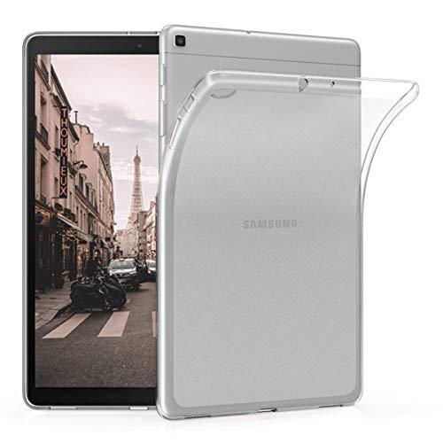 kwmobile Hülle kompatibel mit Samsung Galaxy Tab A 10.1 (2019) - Silikon Tablet Cover Hülle Schutzhülle Matt Transparent