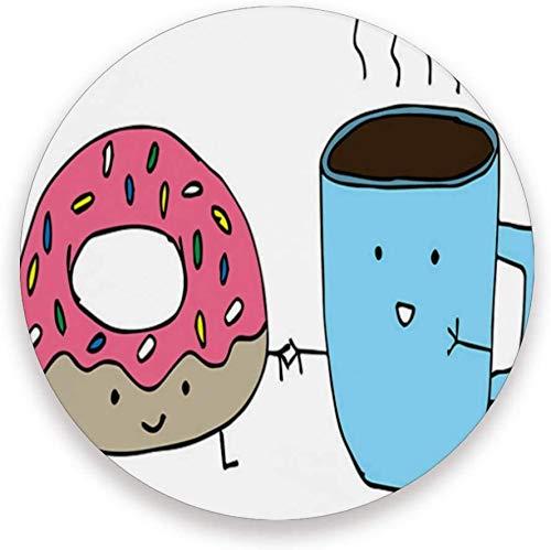 LJB Untersetzer Donuts and Coffee-Better Together, schützen Sie Ihre Möbel vor Flecken, Kaffee, Kork-Untersetzer, lustiges Geschenk zum Einzug, runde Untersetzer für Zuhause, Küche oder Bar, 2er-Set