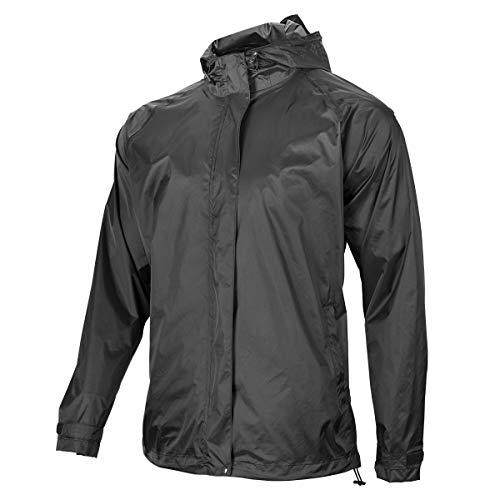 ROCK BROS Men's Waterproof Cycling Jacket Windproof Raincoat for Bike Running Black