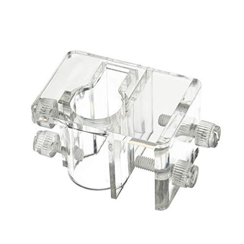 Balacoo Verstellbarer Halter für Aquarienrohre Wasserschlauchklemme Fester Clip Aquarium-Schlauchhalter Größe L Geeignet für 5-26 mm Rohre