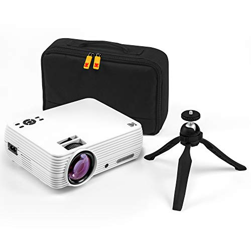 "KODAK FLIK X7 Home Projector (Max 1080p HD) with Tripod, & Case Included | Compact, Projects Up to 150"" with 720p Native Resolution & 30,000 Hour, Lumen LED Lamp