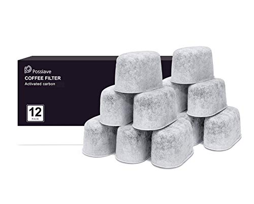 Possiave 12-Pack Charcoal Water Filters Compatible with Breville BWF100 Machines, Breville Espresso Machine Water Filter Replacements