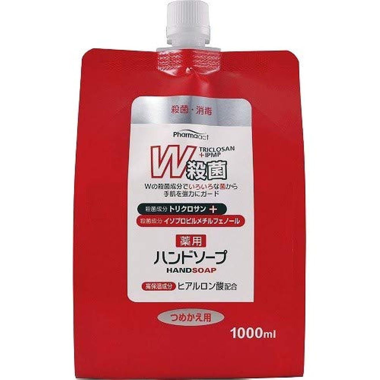 大着飾る乱すファーマアクト W殺菌薬用ハンドソープ スパウト付き詰替 1000ml