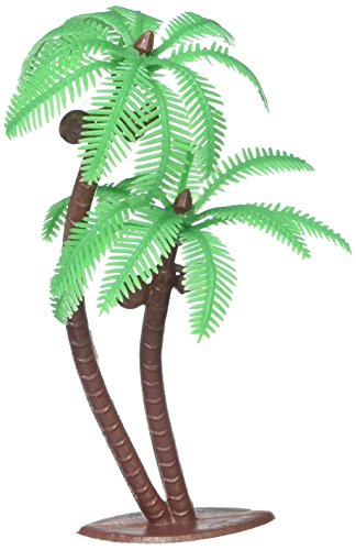 Price comparison product image Palm Tree with Coconuts Cake Topper (8 Count)
