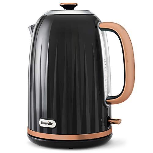 Breville Impressions Electric Kettle   1.7 Litre   3 KW Fast Boil   Black and Rose Gold [VKT163]