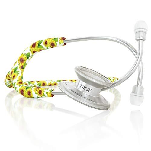 MDF® MD One® Premium Estetoscopio doble cabeza de acero inoxidable - Garantía de por vida & Programa-piezas-gratuitas-de-por-vida (MDF777) (Girasol)
