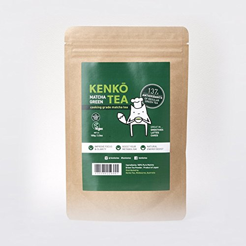 Matcha Green Tea Powder - Premium Japanese by Kenko Tea (Culinary Grade 100g)