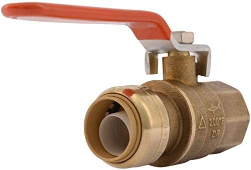 SharkBite 22186 0000LF 3 4 Push To Connect x Fnpt Ball Valve 3 4 Inch Brass product image
