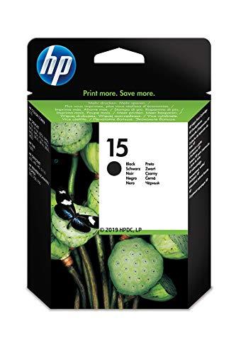 HP 15 C6615DE, Negro, Cartucho de Tinta Original, compatible con impresoras de inyección de tinta HP DeskJet 3820, 815c, 920c;OfficeJet v30, v40, v45; PSC 500, 720, 750, 760, 950