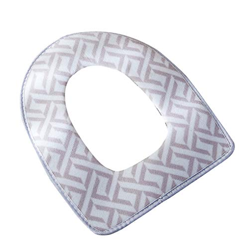 Fengyuanhong Copriwater Coperchio Pad Caldo Velluto Bagno Inverno Lavabile Toilet Seat Mat Lid - Grey