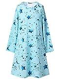 Girls Princess Nightgown Long Sleeve Pretty Loose Sleepwear Nightwear Dress 12 13