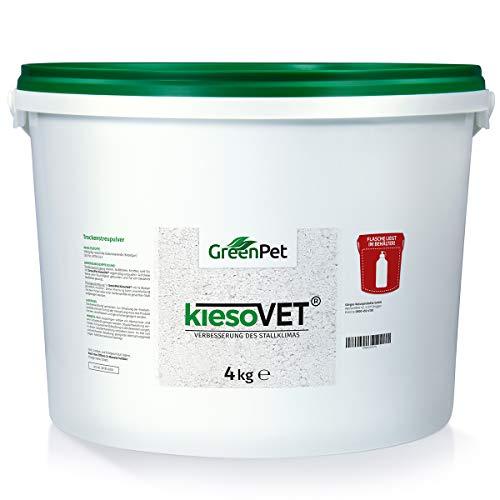 GreenPet KiesoVet Kieselgur 4kg - Reine biologische Diatomeenerde inkl. Stäubeflasche im Eimer, Kieselerde als Pulver, Bio Produkt für Hühnerställe, Hühner & Geflügel Betriebe - 3