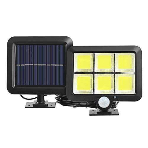 ZHUANYIYI 3 Modos 120led COB Solar Wall Light PIR Sensor De Movimiento Al Aire Libre Impermeable Jardín Solar Power Light Lámpara De Calle (Color : 120LED)
