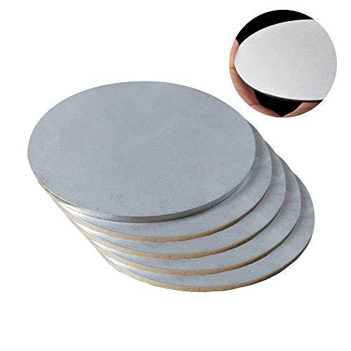 JKGHK Chapa De Acero Inoxidable Redondo - Espesor: 0,5 mm (5 Piezas),Diameter:80mm