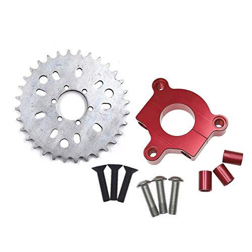 "NAVARME 415 Chain Sprocket 1.5"" 32T Red CNC Adapter Motorized Bicycle 50cc 60cc 80cc"