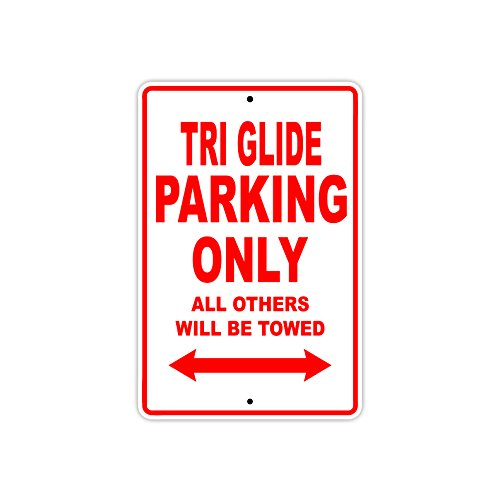 Aluminium 25,4 x 35,6 cm VinMea Harley Davidson Street Glide Special Parking Only All Other Will Be Towed Motorrad