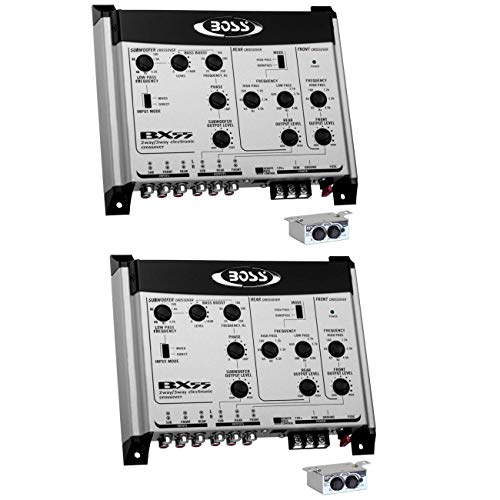BOSS BX55 2/3 Way Car Audio Electronic Crossover Bass w/Remote Control (2 Pack)