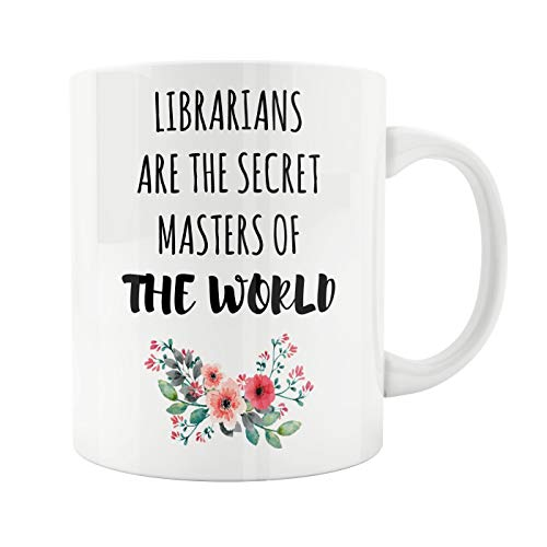 11oz White Ceramic Coffee Mug, Gifts For Librarians, Book Lover Gift, Bookish, Gifts For Readers, Friend Coworker Anniversary Christmas Birthday Retired Novelty Gift