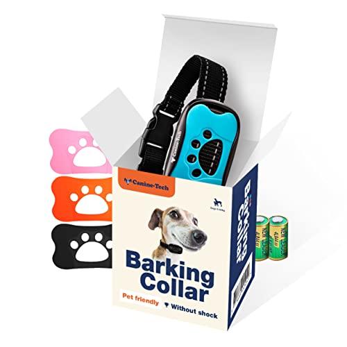 Collar Anti-Ladridos Avanzado   Eduque a su perro con sonido y vibraciones   4 opciones de color   Con dos baterías extra