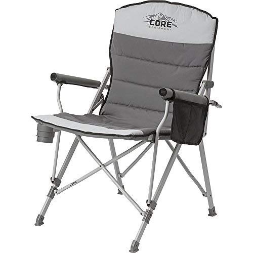 CORE Equipment Folding Padded Hard Arm Chair with Carry Bag.