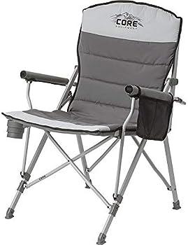 CORE Equipment Folding Padded Hard Arm Chair