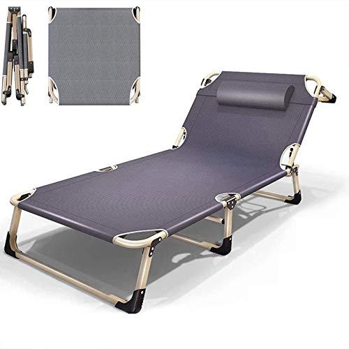 Silla Tumbonas para exteriores, relajante, ajustable en 4 marchas, silla reclinable portátil plegable para balcón, dormitorio, patio, muebles de jardín (gris)