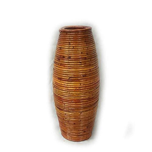Jarrones de ratán, jarrones de ratán indonesios, jarrones de suelo a techo, muebles para el hogar, jarrones de suelo para ramas decorativas, jarrones de suelo-100cm