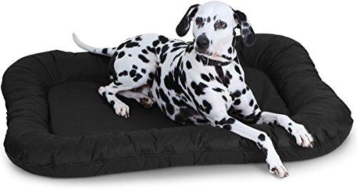 Knuffelwuff Hundebett Lucky In und Outdoor Hundekissen Hundesofa Hundekörbchen Hundekorb, Größe XL Schwarz