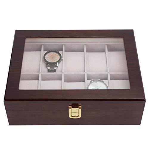 01 Caja de Reloj de Lujo, Caja de Reloj, Caja de Almacenamiento de Reloj, Exquisito para Hombres y Mujeres, Regalo, Amigos, Esposo, Esposa