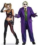 Generique - Disfraz de Pareja Harley Quinn y Joker Única