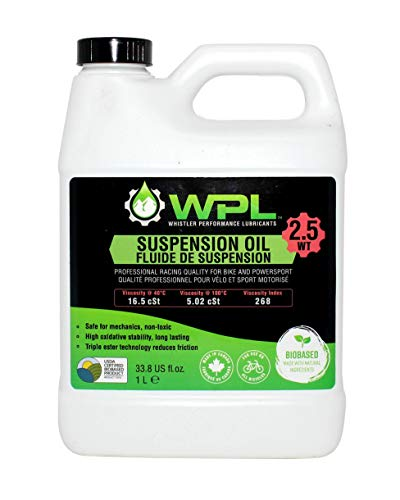 WPL High Performance Bicycle Suspension Oil 1L 20wt Premium Design for Forks and Shocks Mountain Bike Suspension Fluid for Mountain Bike Athletes