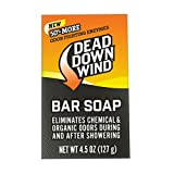 Dead Down Wind Bar Soap   4.5 Oz Bar   Odor Eliminator, Hunting Accessories   Scent Blocker Body Soap for Hunting   All Natural Hunting Soap Body Wash with Odor Fighting Enzymes (1200N)