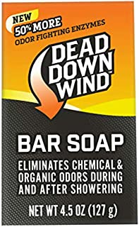 Dead Down Wind Bar Soap | 4.5 Oz Bar | Odor Eliminator, Hunting Accessories | Scent Blocker Body Soap for Hunting | All Natural Hunting Soap Body Wash with Odor Fighting Enzymes (1200N)