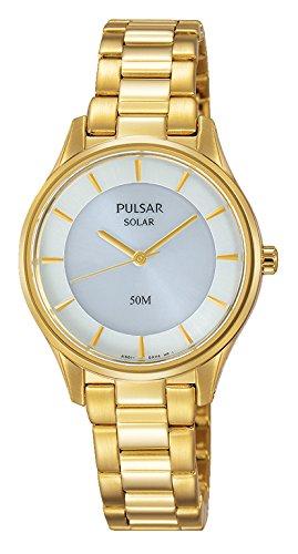 Pulsar dames analoog kwarts horloge met roestvrij staal gecoat armband PY5022X1