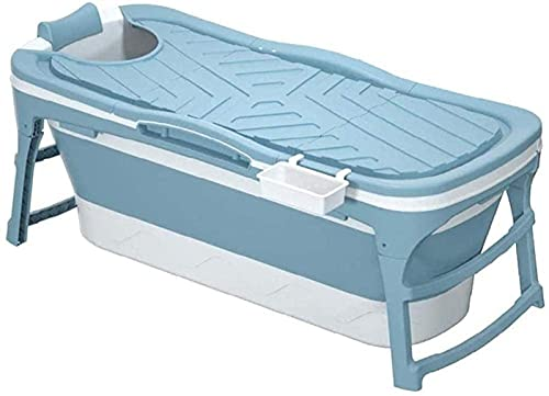 XQMY Bañera Plegable portátil 1 43 para niños Bañera Cubierta de Aislamiento térmico a Largo Plazo con bañera para Adultos SPA Tina Antideslizante con Tapa Hogar Todo en un Almacenamiento Conveniente